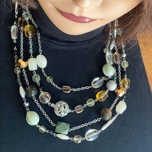 Lia Sophia 4 strand teared beaded necklace.